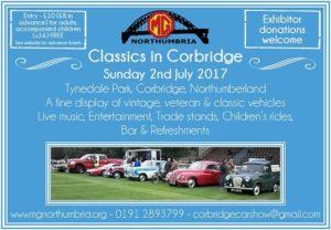 Classics in Corbridge @ Tynesdale Rugby Club | England | United Kingdom
